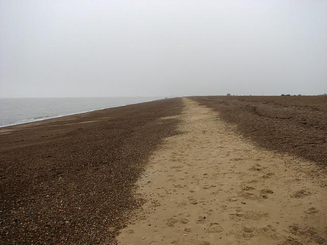 The beach in Felixstowe