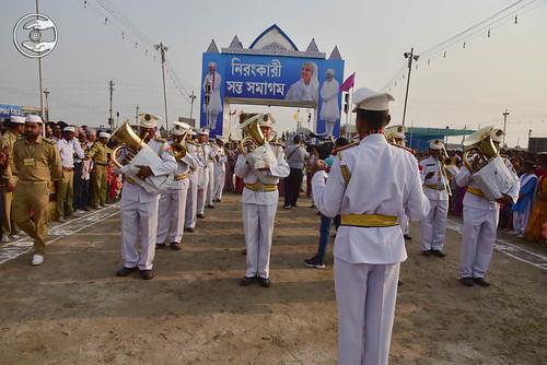 Sewa Dal band lead the procession