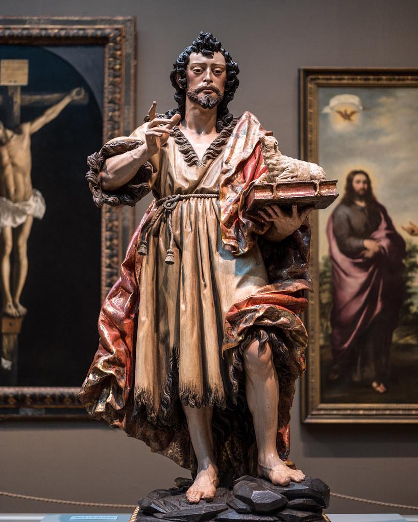 Juan de Mesa, Saint John the Baptist, c 1625, Wood with polychromy and gilding 1/27/18 #artinstitutechi