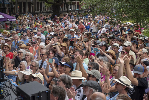 Audience at Day 2 of French Quarter Festival - 4.13.18. Photo by Marc PoKempner.