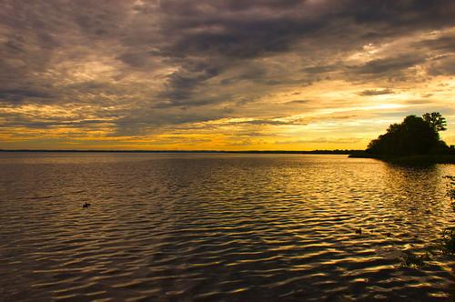 sunrise morning cloud cloudy sky lake water ripples waves land chiemsee oberbayern upperbavaria bavaria bayern germany deutschland nikond3100 light sunlight outdoor july summer