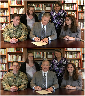 resolution-signing3 | by Scott D. Miller (President, Virginia Wesleyan Univ