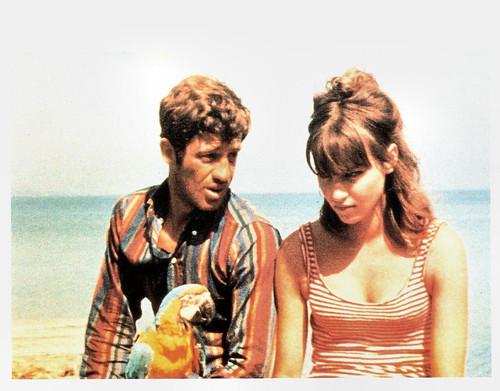 Anna Karina and Jean-Paul Belmondo in Pierrot le fou (1965)
