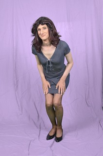 I bet you've never seen a tgirl in a denim dress before!