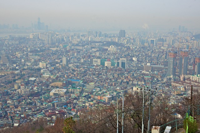 View of Seoul from Mount Namsan