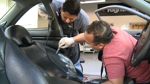 Repair Leather at Rightlook's Interior Repair Training | by Rightlook.com