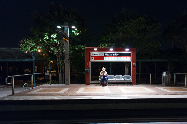 Cowboy Waiting for a Train
