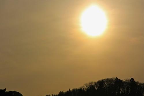 hiraizumi 平泉 無量光院の日没 sunsetfrommuryokoin
