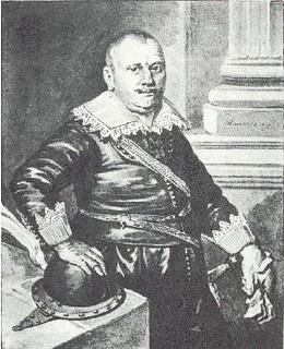 Stephen van der Haghen. Waterverfkopie door Willem Jan Paling Jz. (1777-1848) van een verloren gegaan schilderij uit 1619 van de Utrechtse schilder Paulus Moreelse.