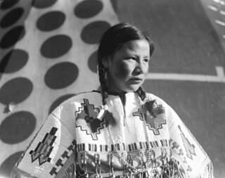 Queenie Big Plume At The Stampede Indian Village Image