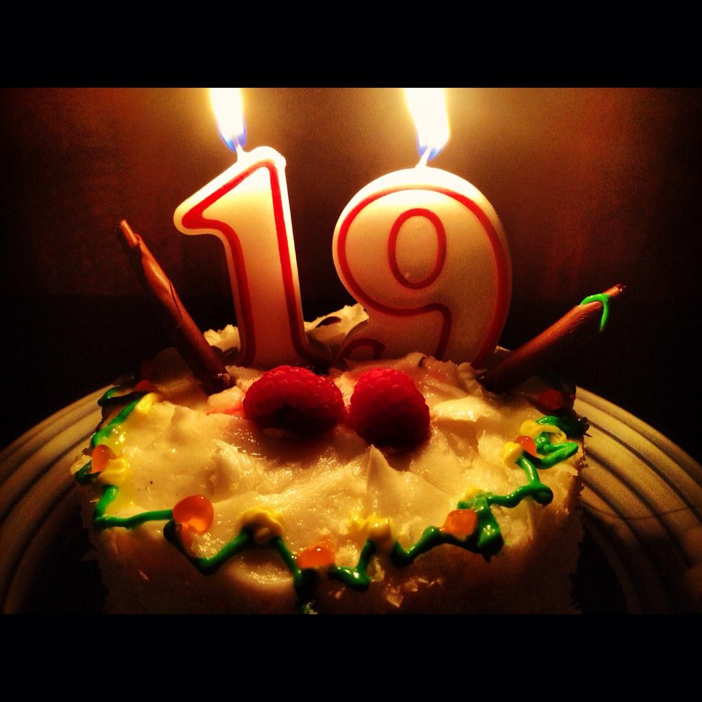 Pleasant 19Th Birthday Cake Photo 19Th Birthday Cake Photo Flickr Funny Birthday Cards Online Alyptdamsfinfo