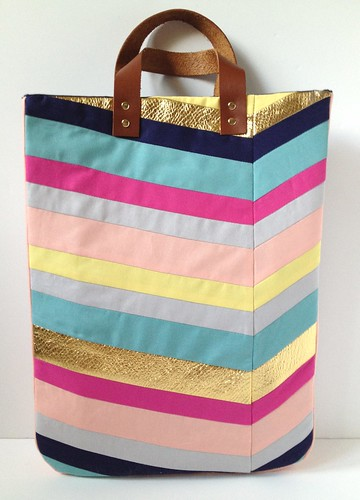 Art-Inspired Chevron Tote Bag 19 | by fabricpaperglue