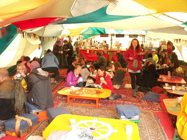 Buddhafield cafe at Buddhafield Festival 2012
