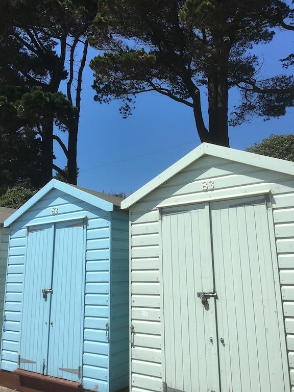 Beach huts Barton to Bournemouth walk