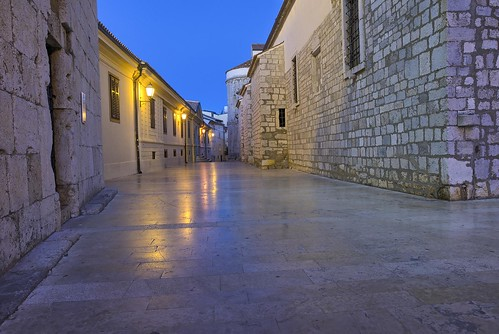 street ancient sky blue reflection stones pavement europe croatia krk sunset morning beautiful nikon nikond750 sigmaart2414 gazzda hrvojesimich