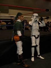 Link from Skyward Sword with a Stormtrooper from Star Wars Episode's IV - VI
