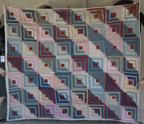 The binding's half done, but the top is no longer too fragile to hold upright.