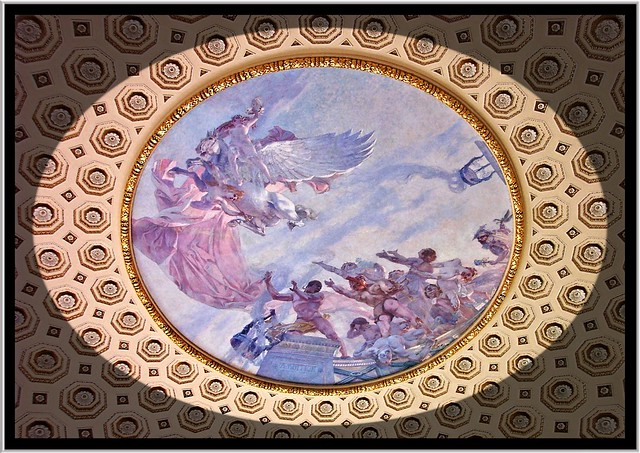 Library of Congress ~ Washington DC.  Ceiling Mural