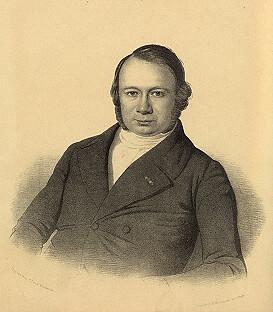 Portret van Beets als een jonge man. Geschilderd door P. Blommers