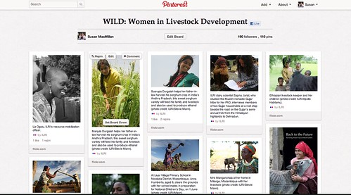 May/2012 - Pinterest Board: Women in Livestock Development.