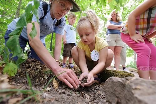 An arboretum class introduces children to the world of moles.