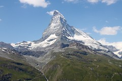 Extreme Environments: A pyramidal peak or glacial horn - The Matterhorn, Switzerland