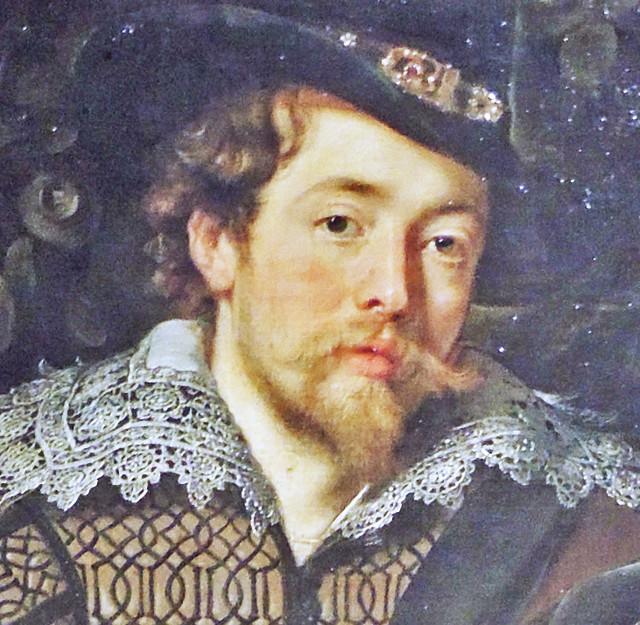Rubens - Self-portrait (detail from the honeysuckle bower) [1609]