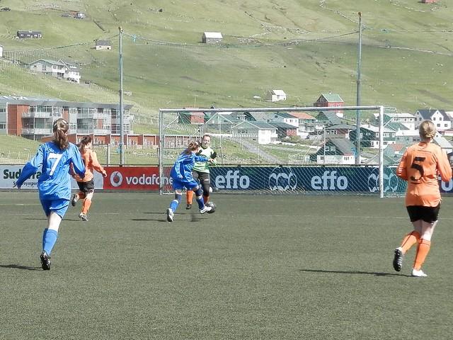 Barbara Krosslá Hjelm scores her first goal in 1. deild - FC Suduroy vs. Skala, Faroese Women's Football 2012