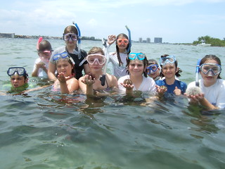 Group with sea urchins