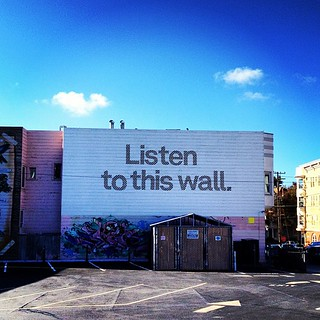 listen to this wall. | by sarahwulfeck