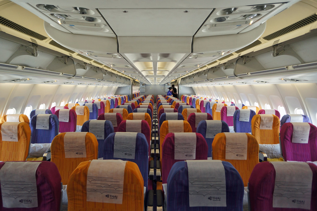 Thai Airways Economy Class Cabin