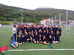 En la imagen se puede ver el equipo de Santoña.