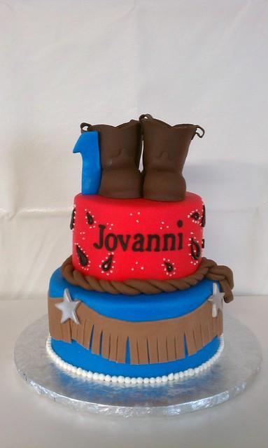 Jovanni's Western First Birthday Cake