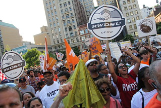 Occupy / RiseUpNY rally for labor rights/fair wages | by katertott129