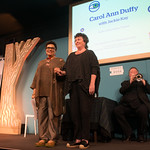 Carol Ann Duffy With Jackie Kay   The UK Poet Laureate and new Scots Makar appear on stage for the first time together at the Book Festival  © Alan McCredie