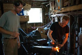Erik & Tyler Blacksmithing Chainlink for Workshop Chain   by goingslowly
