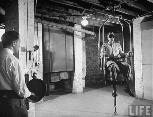 treatment for psychiatric patients Worcester Hospital Spinning chair 1949