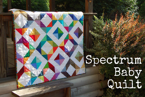 Spectrum Baby Quilt | by Sarah.WV
