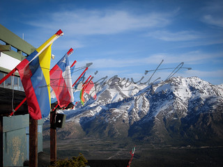 Flags and Mountains - Bariloche, Argentina