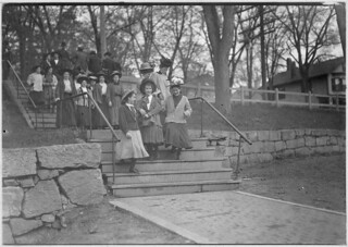Young girls going to work after noon hour, in Great Falls Mfg. Co. I saw a number smaller and younger than these, May 1909