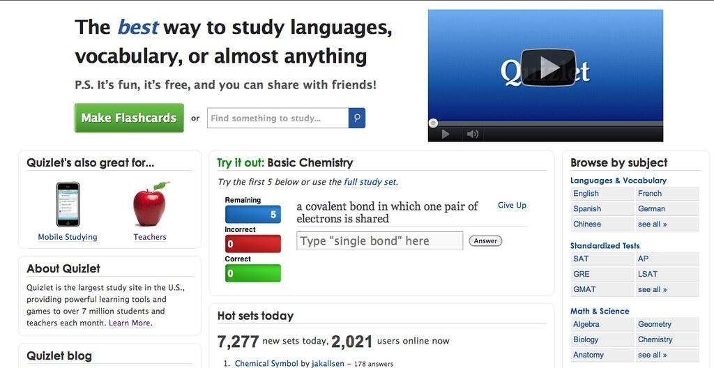 Quizlet com | Screen Shot | Lydia Darnall | Flickr