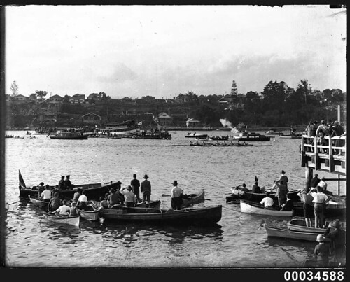 Rowing race in harbour | by Australian National Maritime Museum on The Commons