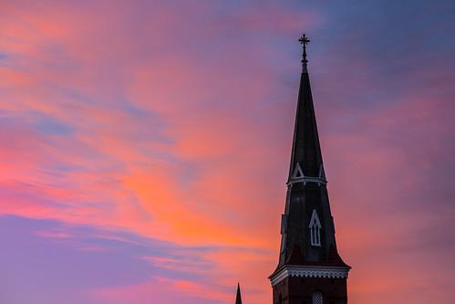 newyork church architecture sunrise buildings psunset