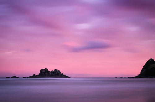 longexposure sunset newzealand bw beach rock clouds island coast nikon surf filter northisland coromandel opoutere nd110