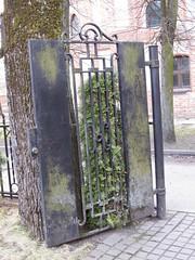 Kaunas, Door on the Grounds of Šv. Jurgio bažnyčia