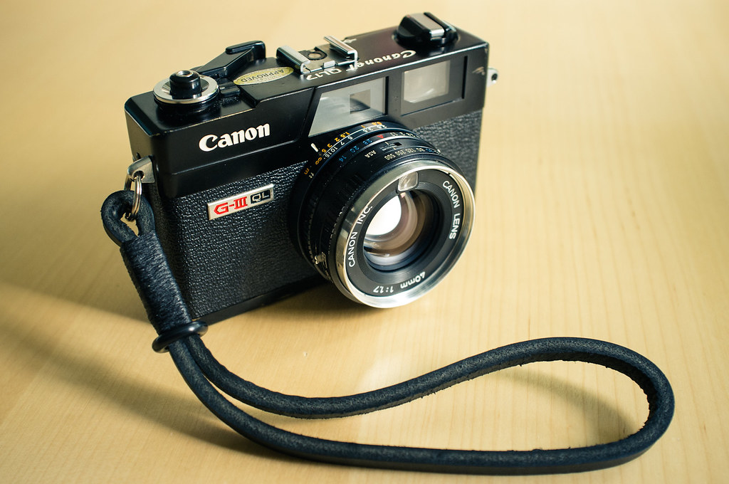 Canonet with gordy's camera strap