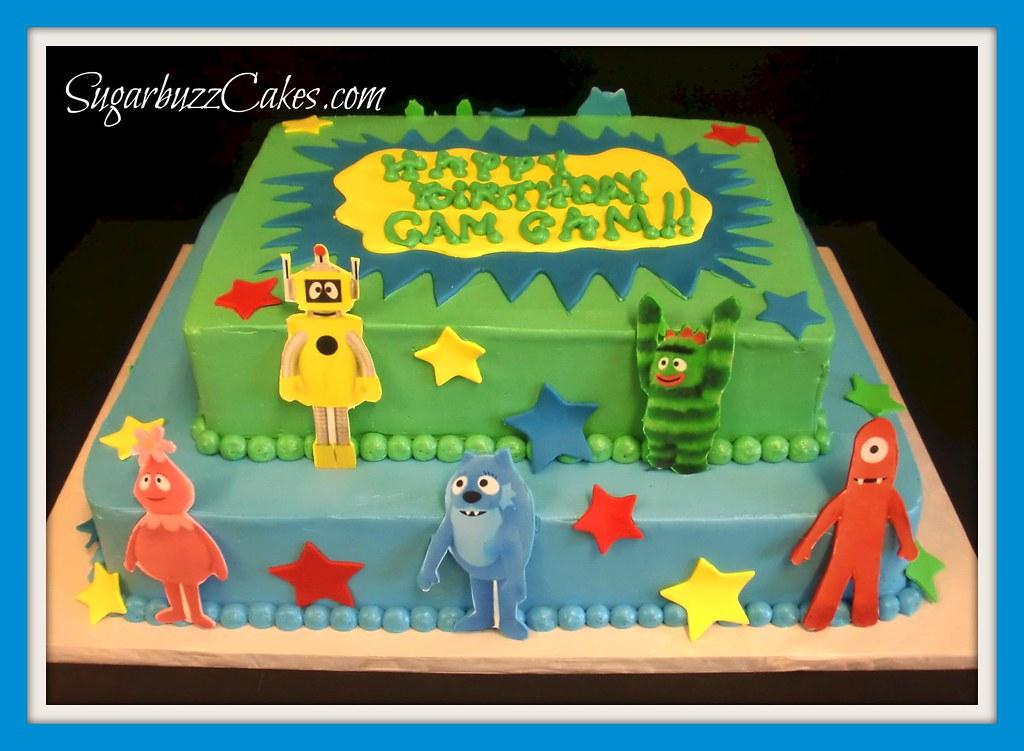 Pleasant Yo Gabba Gabba Birthday Cake Carol Flickr Funny Birthday Cards Online Elaedamsfinfo