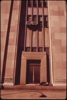 Homeless Man Sleeping On Doorway Of Penn Central's 30th Street Station, August 1973