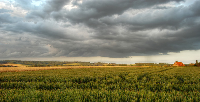 Orage sur la campagne (2) / Storm on the countryside (2)