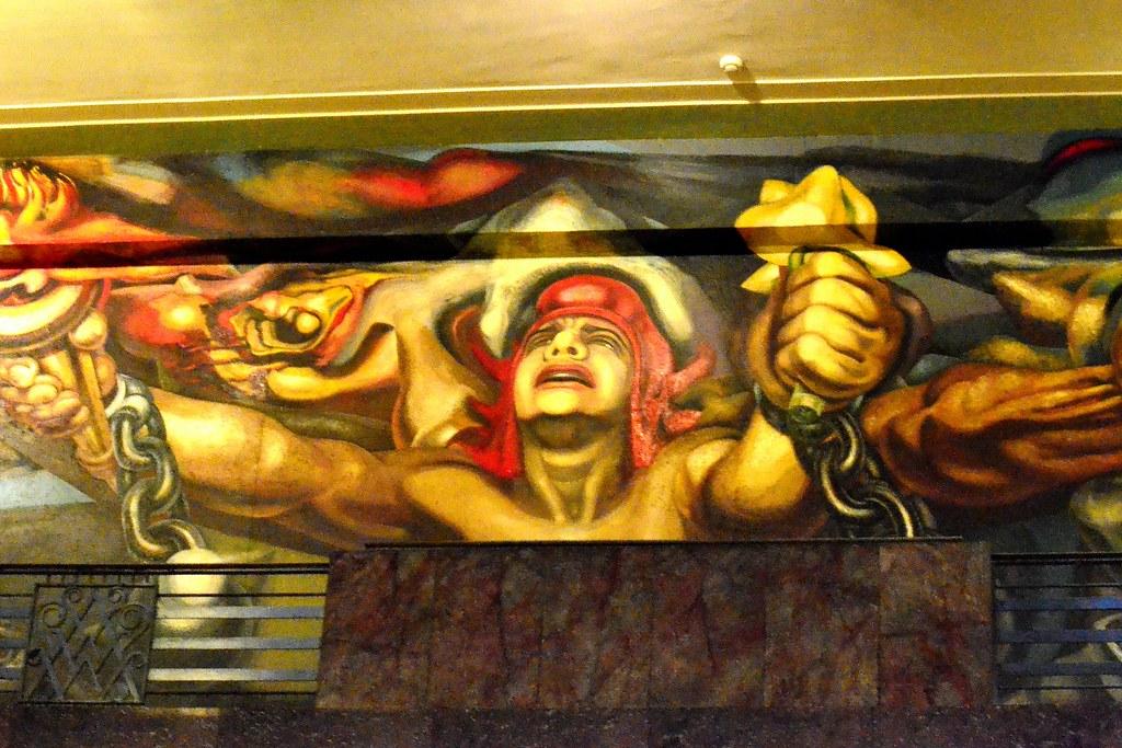 Murales Del Palacio De Bellas Artes La Nueva Democracia Flickr